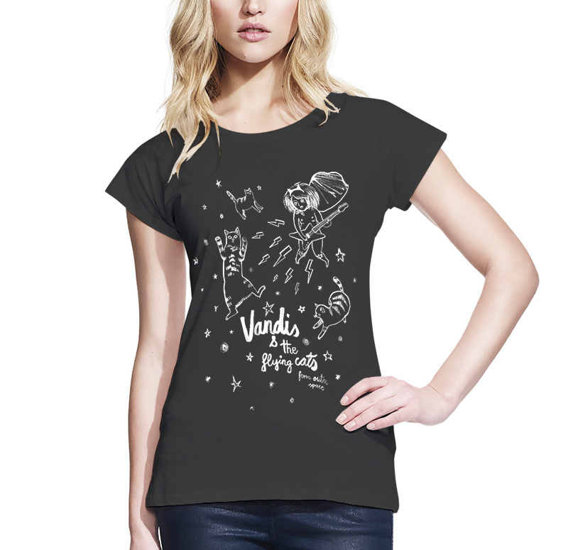 Camiseta Vandis & The flying cats chica